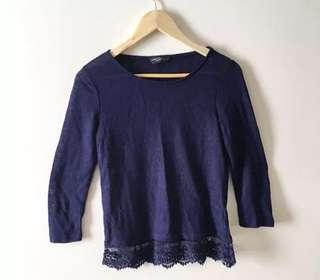 The Iconic - Navy Dorothy Perkins Top - Size 10