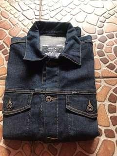 jaket jeans april sz m sekali pake jual murah