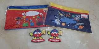 [BN] Vitagen cloth bag with zip | animal train space