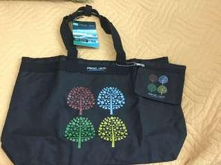 BN PLANET EARTH EXPANDABLE TOTE BLACK