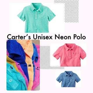 Brand New Carter Neon Color Polo Tee