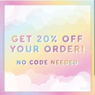 🔥20% OFF COLOURPOP *FREE SHIPPING*