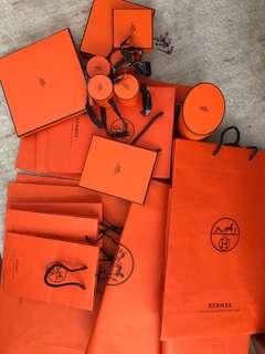 Hermes Carrier & Boxes