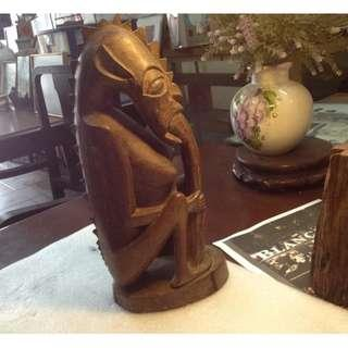 Mah Meri Tribe Wood Carvings Sculpture Rare Item