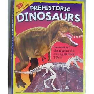 Prehistoric Dinosaurs book with 3D Press-Out & Play