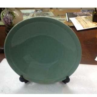 Antique Celadon Jade Green Ceramic Plate