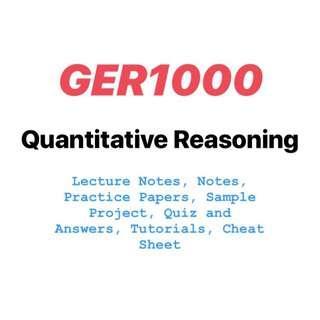 GER1000 Quantitative Reasoning