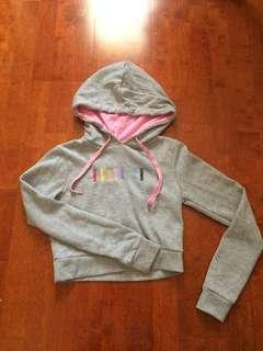 SUPRE Brooklyn Grey Cropped Hoodie