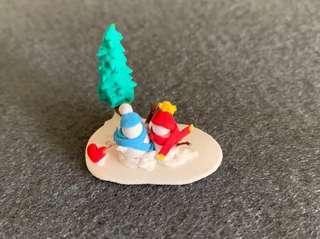 Lovely winter couple miniature