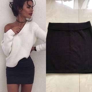 BNWT Black knitted skirt