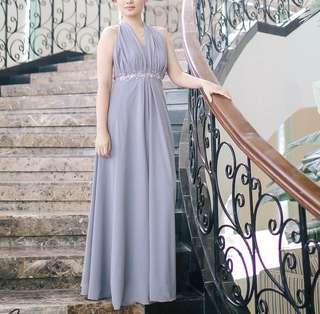 Gown - silver white