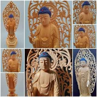 精細刻  阿彌陀如來  全新緣佛