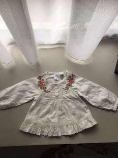 Embroidered beige shirt