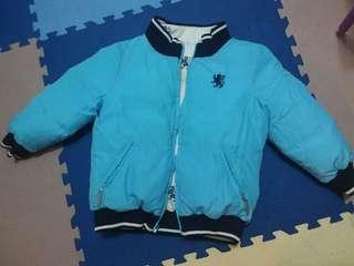 4Y Blue bear 雙面羽絨褸