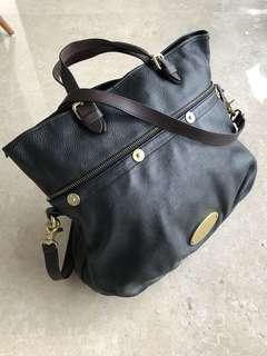 Mulberry expandable genuine leather handbag