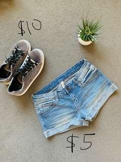 Mango Denim Short + Topshop Sneakers
