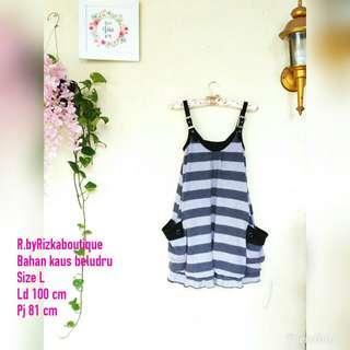 💰WeekendVibe💰 Stripe Dress grey
