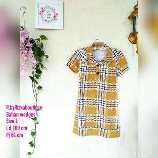 💰WeekendVibe💰 Tartan Dress Yellow