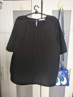 VIVI Black OL Plus Size Top