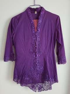 Traditional Malay Kebaya in Purple
