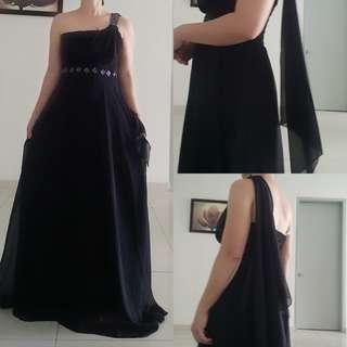 Black Chiffon Dinner dress