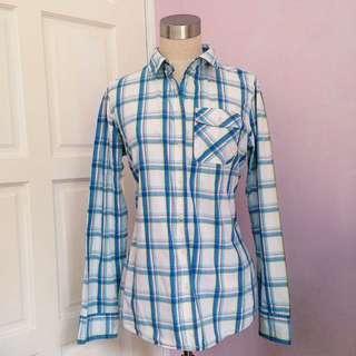 ‼️REDUCED‼️White Plaid Flannel Shirt