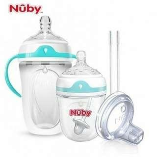 NUBY COMFORT SILICONE BOTTLES