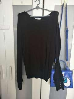 NEW!  ZARA Plus Size Knit Top with Cute Pearl Buttons