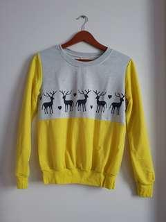 Cute Grey and Yellow Christmas Sweater