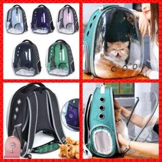 pets bag pets dogs cats carry Pet Carrier Backpack Space Capsule transparent