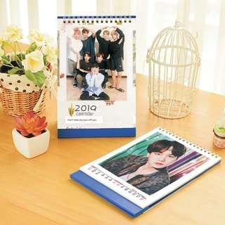 BTS 2019 Kpop PHOTO Desktop Calendar (Big)