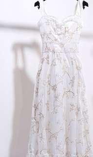 🚚 Floral Dress elegant white