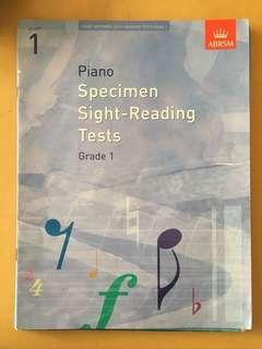 Grade 1/2 Piano Scales & Sight Reading Books