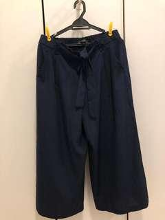 ZARA Wide leg trousers with bow. Never worn.