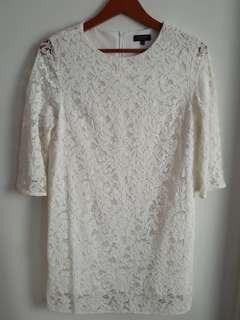 Zalora White Lace Dress