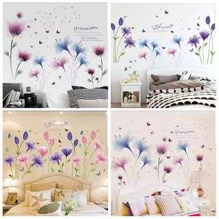 🎉New Arrival 2 in 1 Large Size Creative Small fresh wall flower wall sticker bedroom warm room decoration wall sticker self-adhesive wall stickers