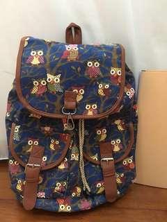 Vintage owl backpack