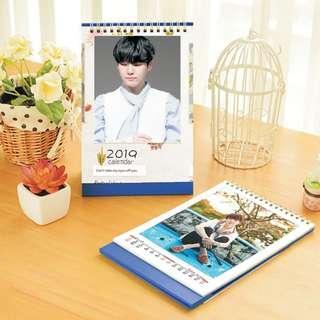 Suga (BTS) 2019 Kpop PHOTO Desktop Calendar (Big)