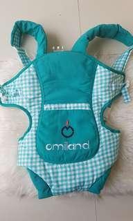 Gendongan Bayi Omiland Baru Motif Kotak Hijau