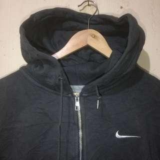 Ziphoodie Nike logo pocket grey