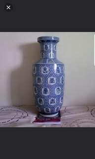 Antique Blue & White Vase