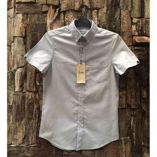 Ben Sherman SS Oxford Shirt Dusk Blue