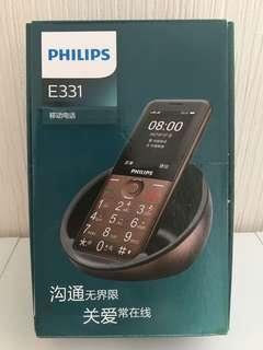 USED PHILIPS E331 2G Dual-Sims Phone for Elderly / 中古 飛利浦 E331 2G 老人手機直板按鍵老年機雙卡雙待