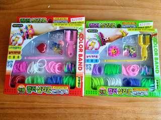 🌈Rainbow Loom DIY Kit 5 boxes 彩虹橡筋編織套裝 5盒