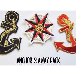 ANCHOR'S AWAY PACK Iron-On Patches