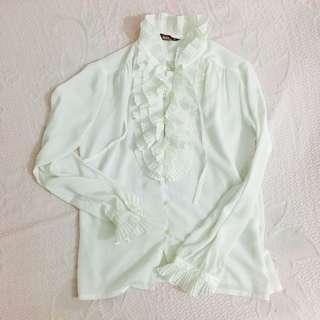 Formal white blouse