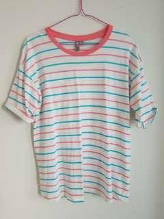 Asos Candy Colored Striped Tshirt