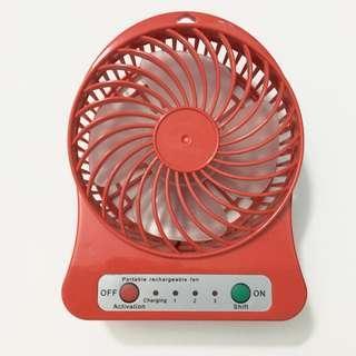 Portable Mini Red Fan