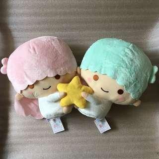 日本 FURYU 景品 SANRIO LITTLE TWIN STARS 雙子星 KIKI LALA BIG SIZE 大 毛公仔 1 對