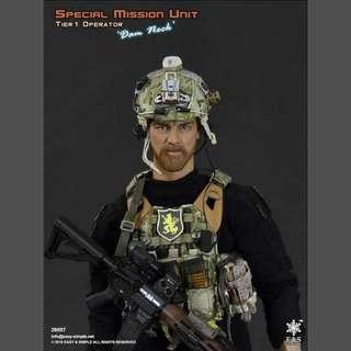 """Special Mission Unit Tier 1 Operator """"Dam Neck"""" 12"""" Fig S-26007B"""